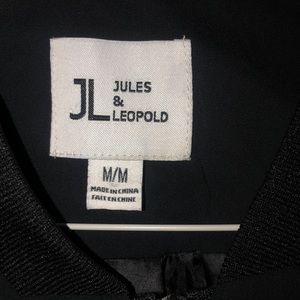 Jules & Leopold Jackets & Coats - Jules & Leopold Black Bomber Jacket Medium
